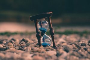 An hourglass signifies one of the most common home selling fears, which is not being able to do so in time