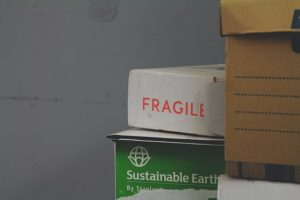 packed boxes for using self-storage when selling a house