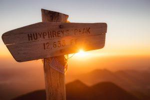 The very top of Humphreys Peak